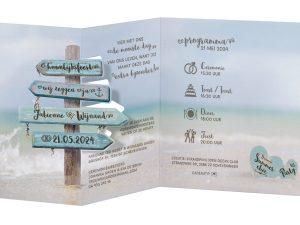 trouwkaarten bestellen kaart 620028 strand en natuur